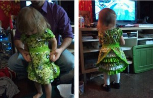 Birthday Dress Front and Back Views