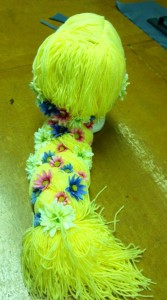 Wig with flowers added